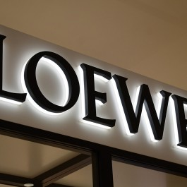 Luxury model LED backlit store front signs