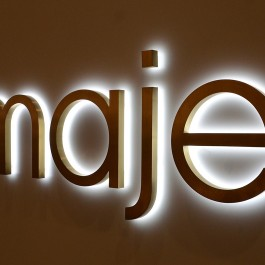 Common model LED metal backlit signs