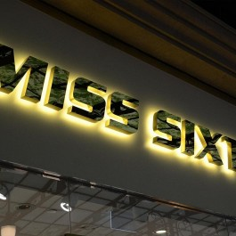 Common model LED metal business signs