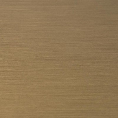 Brass plated brushed stainless steel