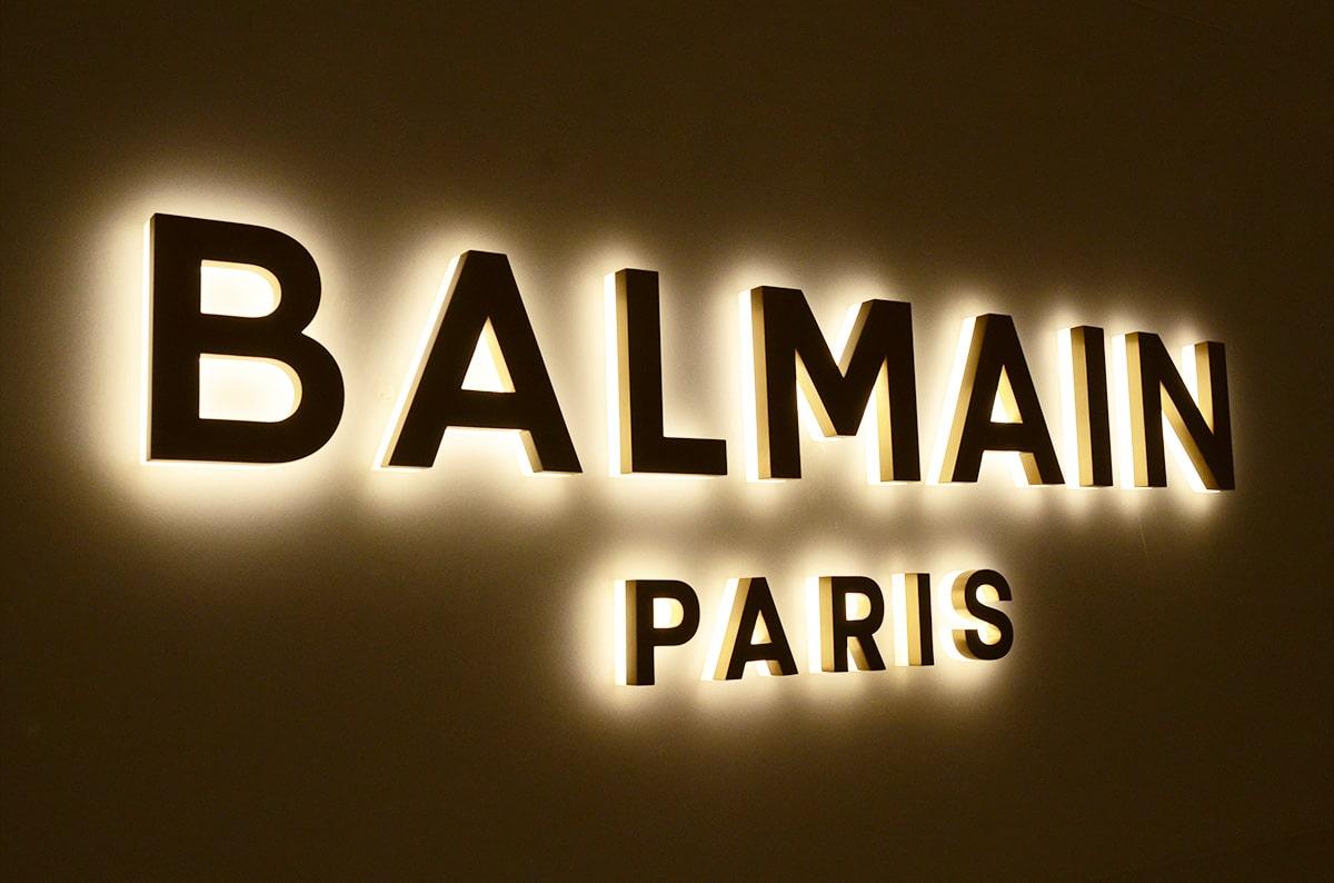 Luxury model LED backlit metal business signs