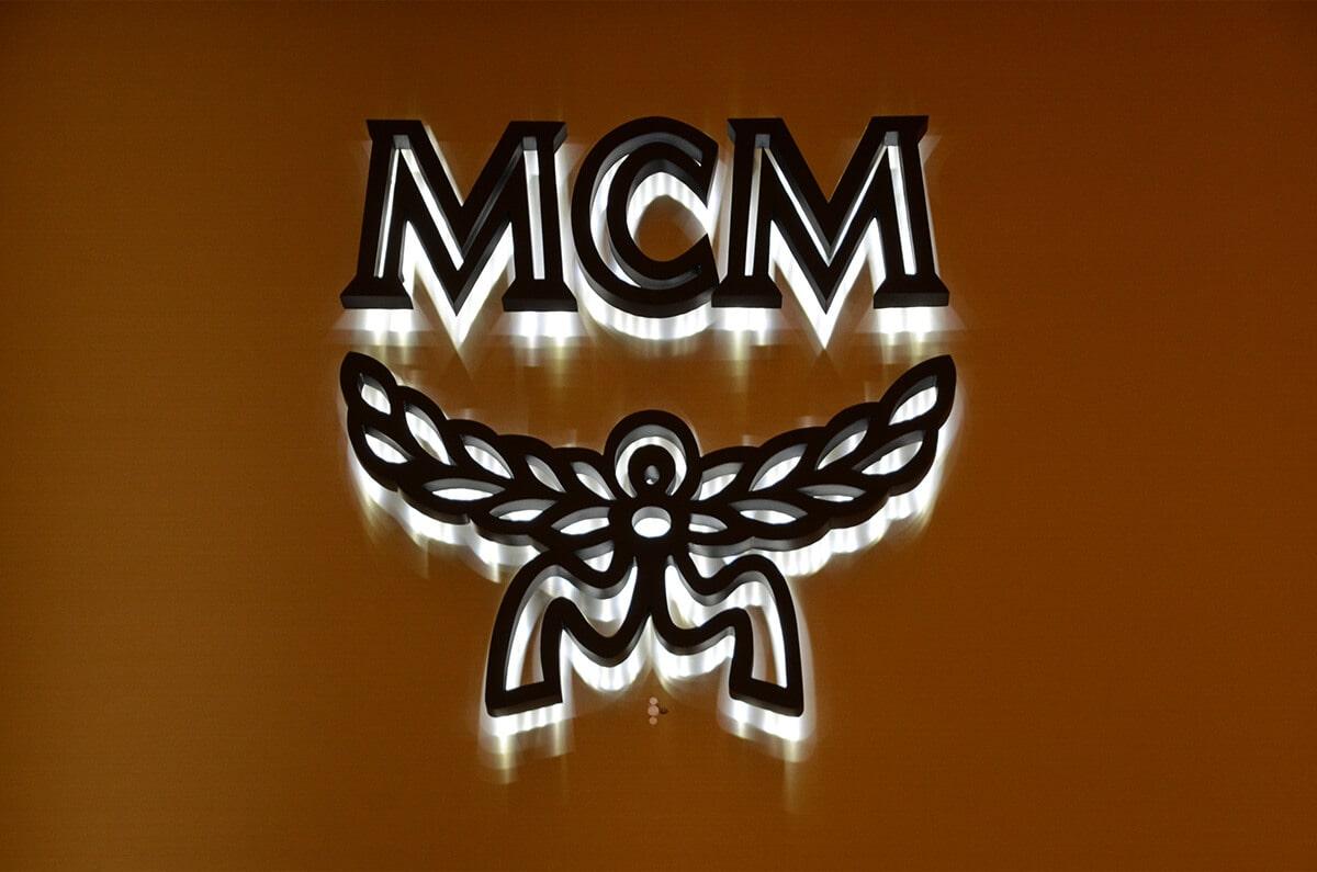 LED backlit logo